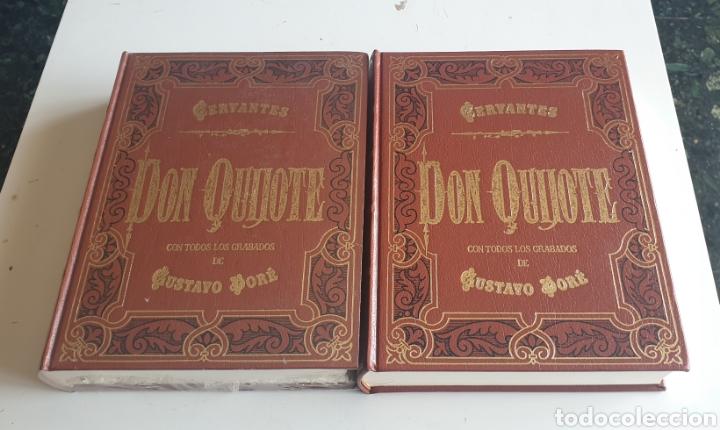 LIBRO DON QUIJOTE DE LA MANCHA DE MIGUEL DE CERVANTES 2 TOMOS EDICION LUJO (Libros de Segunda Mano - Historia Antigua)
