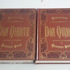 Libros de segunda mano: LIBRO DON QUIJOTE DE LA MANCHA DE MIGUEL DE CERVANTES 2 TOMOS EDICION LUJO. Lote 154662658