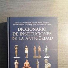 Libros de segunda mano: DICCIONARIO DE INSTITUCIONES DE LA ANTIGÜEDAD.. Lote 155516778