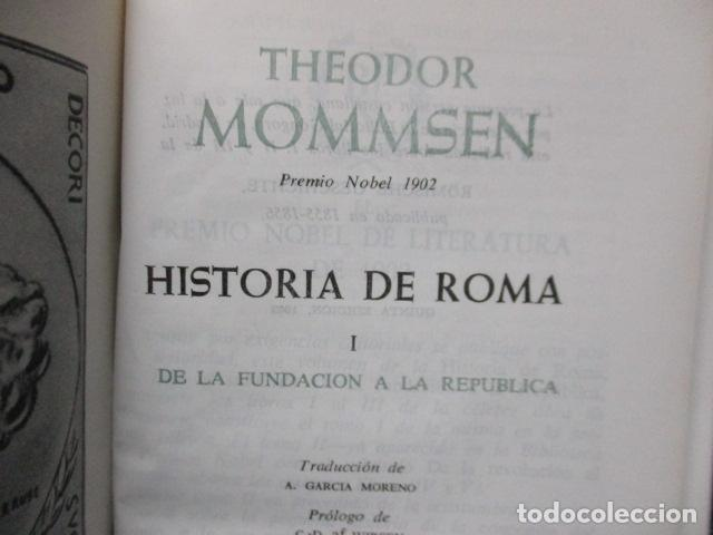 Gebrauchte Bücher: THEODOR MOMMSEN - HISTORIA DE ROMA VOLÚMENES I Y II. - Foto 4 - 155860214