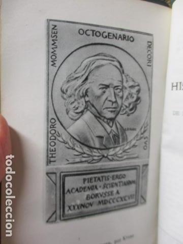 Gebrauchte Bücher: THEODOR MOMMSEN - HISTORIA DE ROMA VOLÚMENES I Y II. - Foto 5 - 155860214