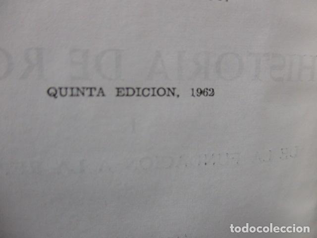 Gebrauchte Bücher: THEODOR MOMMSEN - HISTORIA DE ROMA VOLÚMENES I Y II. - Foto 6 - 155860214