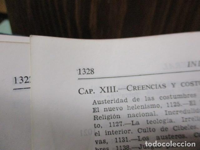 Gebrauchte Bücher: THEODOR MOMMSEN - HISTORIA DE ROMA VOLÚMENES I Y II. - Foto 7 - 155860214