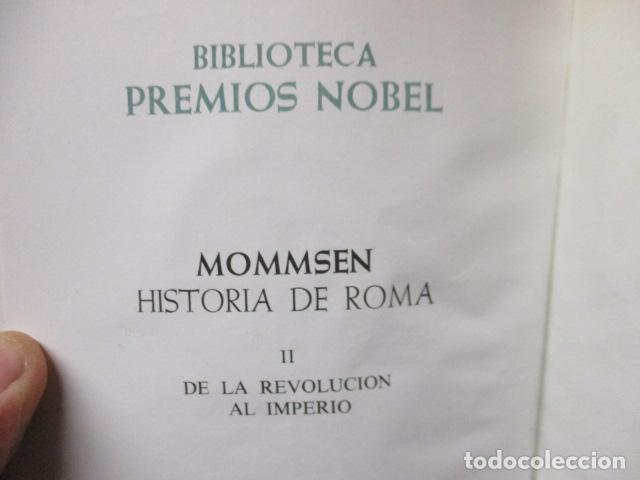 Gebrauchte Bücher: THEODOR MOMMSEN - HISTORIA DE ROMA VOLÚMENES I Y II. - Foto 8 - 155860214