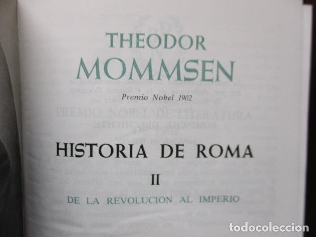 Gebrauchte Bücher: THEODOR MOMMSEN - HISTORIA DE ROMA VOLÚMENES I Y II. - Foto 10 - 155860214