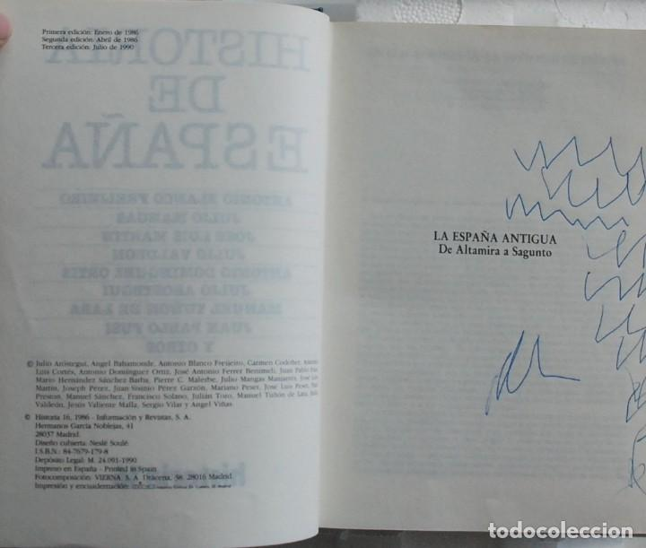 Libros de segunda mano: TOMO Historia 16 - Historia de España. La España antigua.De Altamira a Sagunto AÑO 1990 - Foto 3 - 155866054