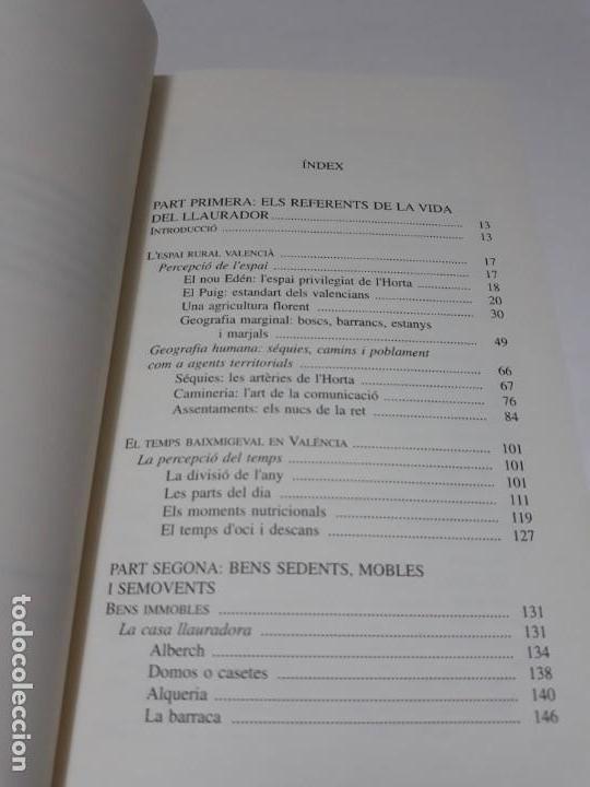 Libros de segunda mano: Somis i realitats de lhorta migeval de Valéncia Limaginari dels llauradors: espai, temps i bens - Foto 5 - 156549338