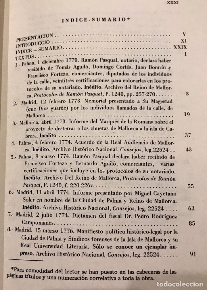 Libros de segunda mano: Libro Reivindicacion de los judios mallorquines. Mallorca 1983. Lorenzo Perez. Inquisición. Document - Foto 3 - 155860870