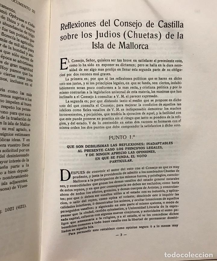 Libros de segunda mano: Libro Reivindicacion de los judios mallorquines. Mallorca 1983. Lorenzo Perez. Inquisición. Document - Foto 5 - 155860870