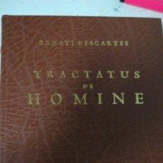 Libros de segunda mano: TRACTATUS DE HOMINE. FACSÍMIL 1994. Lote 159284913