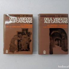 Libros de segunda mano: DELS VISIGOTS ALS CATALANS POR RAMÓN DE ABADAL Y VINYALS (?) - ABADAL VINYALS, RAMÓN DE. Lote 194710866