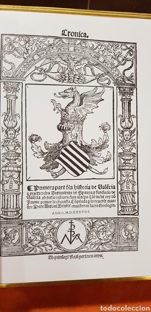 Libros de segunda mano: CRONIQUES DE VALENCIA,facsimil - Foto 3 - 160106717