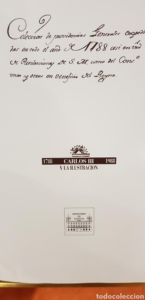 Libros de segunda mano: PROVIDENCIAS DEL CONSEJO,1788,facsimil. - Foto 3 - 160783738