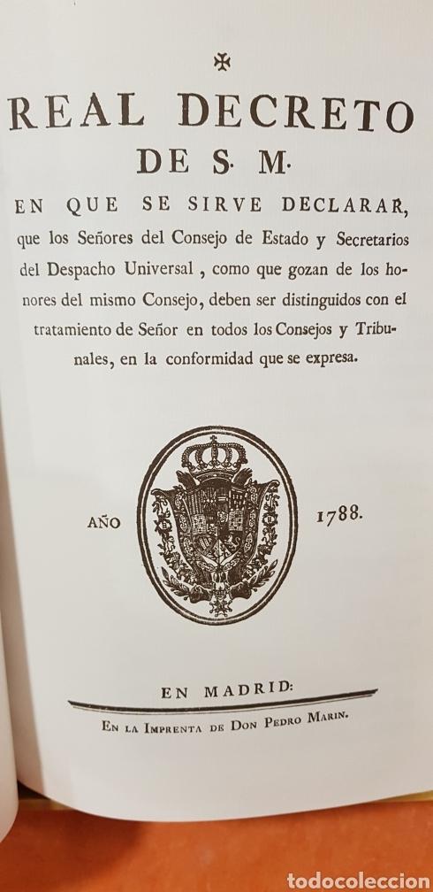 Libros de segunda mano: PROVIDENCIAS DEL CONSEJO,1788,facsimil. - Foto 7 - 160783738
