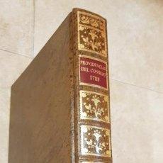 Libros de segunda mano: PROVIDENCIAS DEL CONSEJO,1788,FACSIMIL.. Lote 160783738