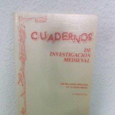 Libros de segunda mano: CUADERNOS DE INVESTIGACION MEDIEVAL Nº 10. LOS REGADIOS HISPANOS EN LA EDAD MEDIA. AL-MUDAYNA 1992.. Lote 161866402