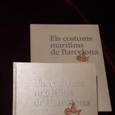 Libros de segunda mano: ELS COSTUMS MARÍTIMS DE BARCELONA. 2 VOL. - SANTIAGO HERNÁNDEZ IZAL - GENERALITAT DE CATALUNYA 1986. Lote 164993432