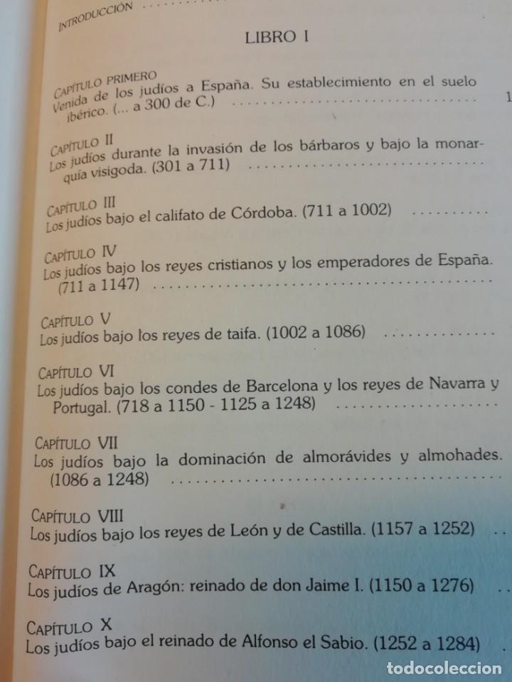 Libros de segunda mano: HISTÒRIA SOCIAL, POLÍTICA Y RELIGIOSA DE LOS JUDÍOS EN ESPAÑA - Foto 3 - 165314082