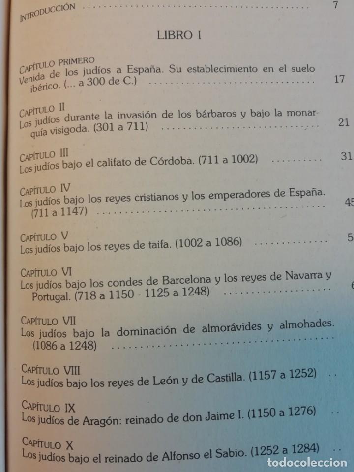 Libros de segunda mano: HISTÒRIA SOCIAL, POLÍTICA Y RELIGIOSA DE LOS JUDÍOS EN ESPAÑA - Foto 4 - 165314082