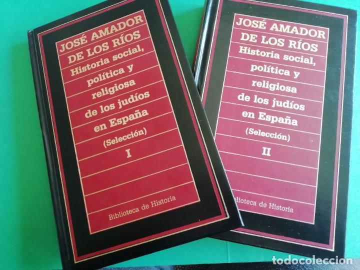 Libros de segunda mano: HISTÒRIA SOCIAL, POLÍTICA Y RELIGIOSA DE LOS JUDÍOS EN ESPAÑA - Foto 2 - 165314082