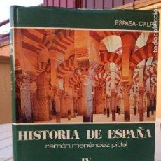 Libros de segunda mano: HISTORIA DE ESPAÑA MENÉNDEZ PIDAL TOMO IV ESPAÑA MUSULMANA (711-1031). LA CONQUISTA, EL EMIRATO, EL. Lote 165832614