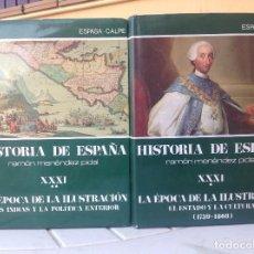 Libros de segunda mano: HISTORIA DE ESPAÑA. TOMO XXXI. LA EPOCA DE LA ILUSTRACION.. Lote 165837658