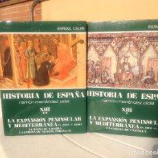 Libros de segunda mano: HISTORIA DE ESPAÑA MENÉNDEZ PIDAL T. XIII LA EXPANSIÓN PENINSULAR Y MEDITERRÁNEA. Lote 165837946
