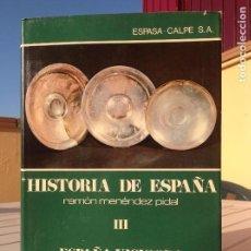 Libros de segunda mano: HISTORIA DE ESPAÑA MENÉNDEZ PIDAL TOMO III: ESPAÑA VISIGODA (414 - 711 DE J.C.). Lote 165838090