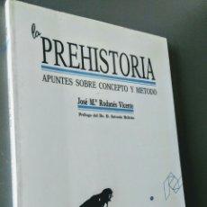 Libros de segunda mano: LA PREHISTORIA: APUNTES SOBRE CONCEPTO Y MÉTODO. JOSÉ MARÍA RODANÉS. Lote 162776662