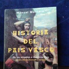 Libros de segunda mano: HISTORIA DEL PAÍS VASCO. MONTERO. Lote 172880675