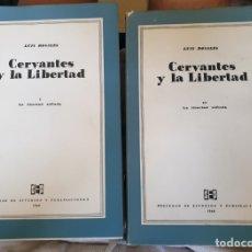 Libros de segunda mano: CERVANTES Y LA LIBERTAD. L.ROSALES.2 TOMOS. Lote 172907475