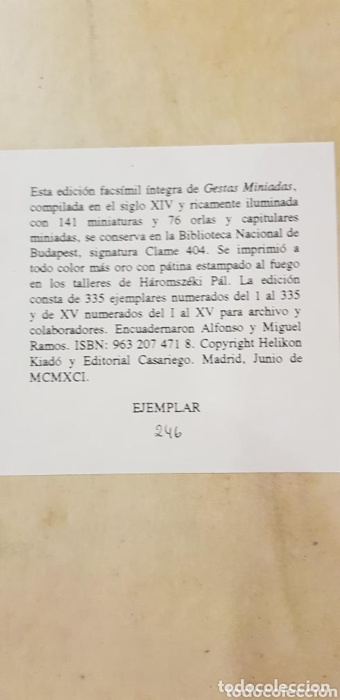 Libros de segunda mano: GESTAS MINIADAS - Foto 11 - 173935185