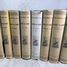 Libros de segunda mano: HISTORIA DE ESPAÑA RAMÓN MENENDEZ PIDAL 8 VOLÚMENES CONSECUTIVOS TOMOS I A VI BUEN ESTADO ESPASA. Lote 174027163