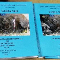 Libros de segunda mano: LA NECRÓPOLIS MESOLÍTICA DE EL COLLADO (OLIVA-VALENCIA), SECCIÓN DE ESTUDIOS ARQUEOLÓGICOS V, 2 TOMO. Lote 174975810