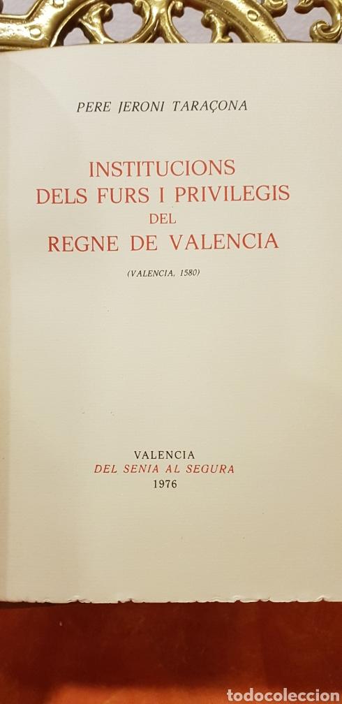 Libros de segunda mano: INSTITUCIONS DELS FURS.facsimil, - Foto 3 - 175863300