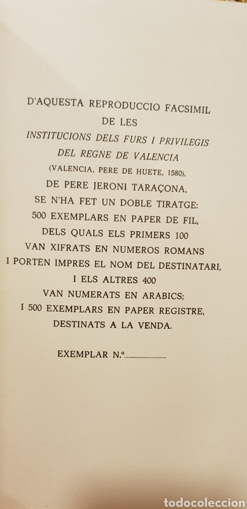 Libros de segunda mano: INSTITUCIONS DELS FURS.facsimil, - Foto 7 - 175863300