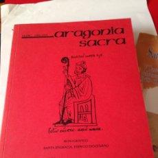 Libros de segunda mano: ARAGONIA SACRA. REVISTA DE INVESTIGACION. NUMERO DEDICADO A SANTA ENGRACIA 1992-1993. Lote 176548008