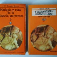 Libros de segunda mano: MITOLOGIA Y MITOS DE LA HISPANIA PRERROMANA I Y II (2 TOMOS) , J BERMEJO BARRERA, EDICIONES AKAL. Lote 178368605