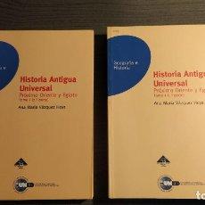 Libros de segunda mano: HISTORIA ANTIGUA UNIVERSAL. PRÓXIMO ORIENTE Y EGIPTO. ANA MARÍA VÁZQUEZ HOYS. 2 TOMOS. EDITORIAL U. Lote 178729027