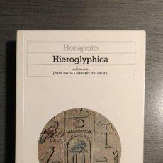 Libros de segunda mano: HIEROGLYPHICA. HORAPOLO . AKAL. . Lote 178813213