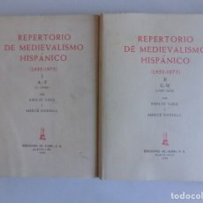 Libros de segunda mano: LIBRERIA GHOTICA. EMILIO SAEZ. REPERTORIO DE MEDIEVALISMO HISPÁNICO (1955-1985) 4 VOLUMENES. Lote 179098191