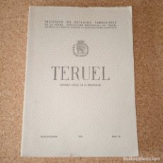 Libros de segunda mano: TERUEL ORGANO OFICIAL DE LA INSTITUCIÓN. Lote 179152703