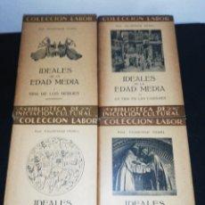 Libros de segunda mano: VALDEMAR VEDEL, IDEALES DE LA EDAD MEDIA, 4 TOMOS COMPLETA. Lote 179208473