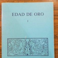 Libros de segunda mano: EDAD DE ORO I. DEPARTAMENTO DE LITERATURA ESPAÑOLA. Lote 179891601