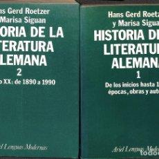Libros de segunda mano: HISTORIA LITERATURA ALEMANA I Y II. Lote 180268291