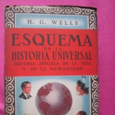Libros de segunda mano: ESQUEMA DE LA HISTORIA UNIVERSAL TOMO 3 Y ULTIMO H. G. WELLS 1947.. Lote 182808391