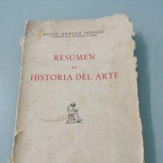 Libros de segunda mano: RESUMEN DE HISTORIA DEL ARTE. DIEGO ÁNGULO IÑIGUEZ. MADRID, 1966.. Lote 183659883