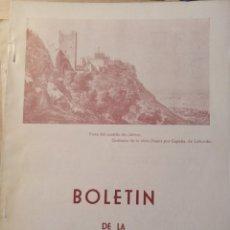 Libros de segunda mano: BOLETIN DE LA ASOCIACION ESPAÑOLA DE AMIGOS DE LOS CASTILLOS. Nº 36 PRIMER TRIMESTRE AÑO X-1962. -. Lote 187210367