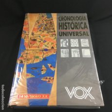 Libros de segunda mano: CRONOLOGÍA HISTÓRICA UNIVERSAL-1450-S.XX-VOX-. Lote 187225593