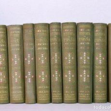 Libros de segunda mano: HISTORIA DE ESPAÑA ANTONIO BALLESTEROS 10 TOMOS. Lote 187316512